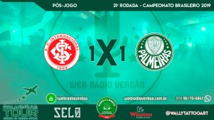 Pós-jogo Internacional 1 x 1 Palmeiras - Brasileiro 2019 - 22ª rodada