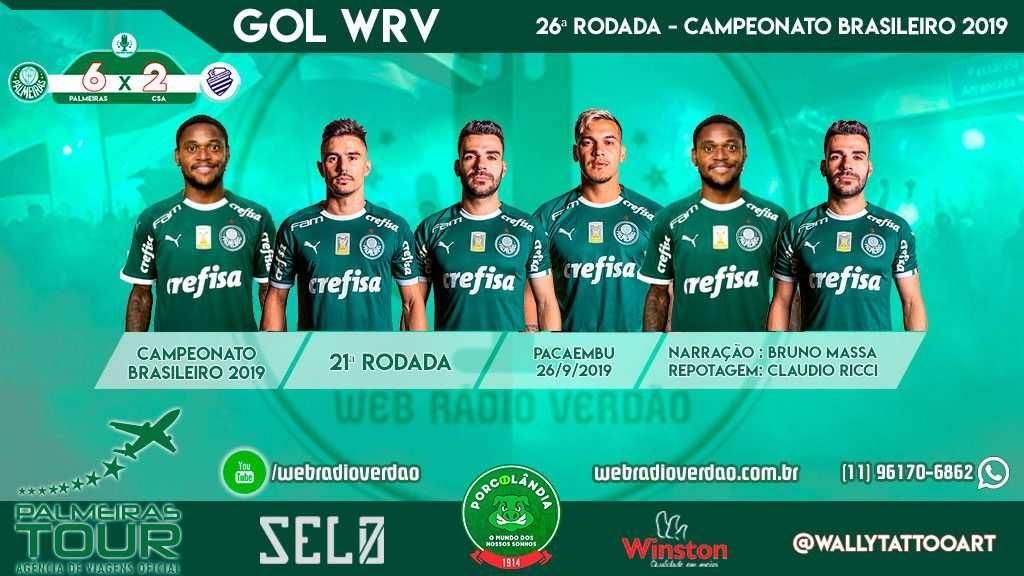 Gols Palmeiras 6 x 2 CSA