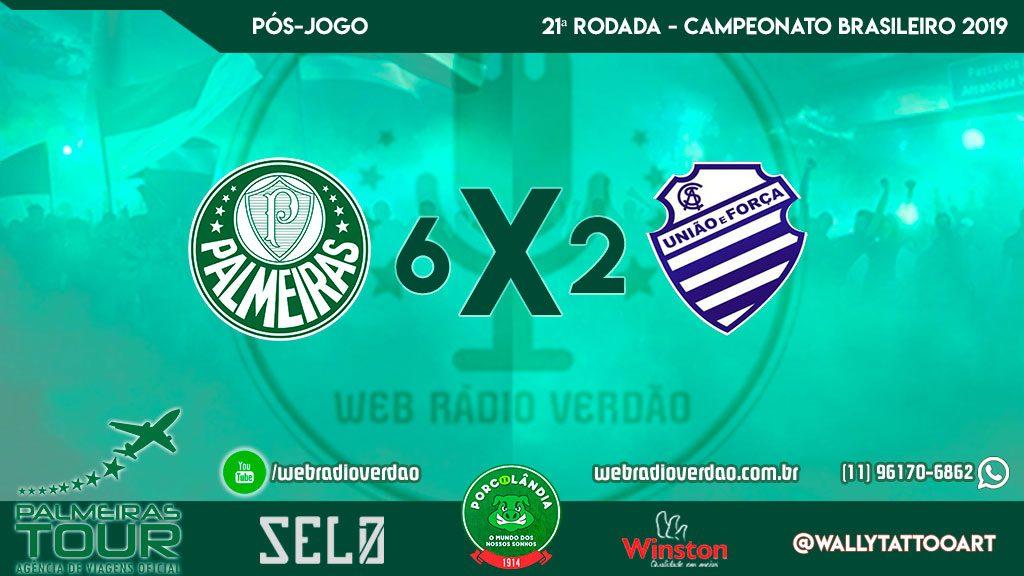 Pós-jogo Palmeiras 6 x 2 CSA