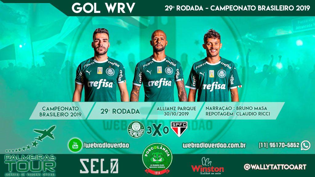 É freguesia que fala - Palmeiras 3 x 0 São Paulo - gols de Bruno Henrique, Felipe Melo e Gustavo Scarpa