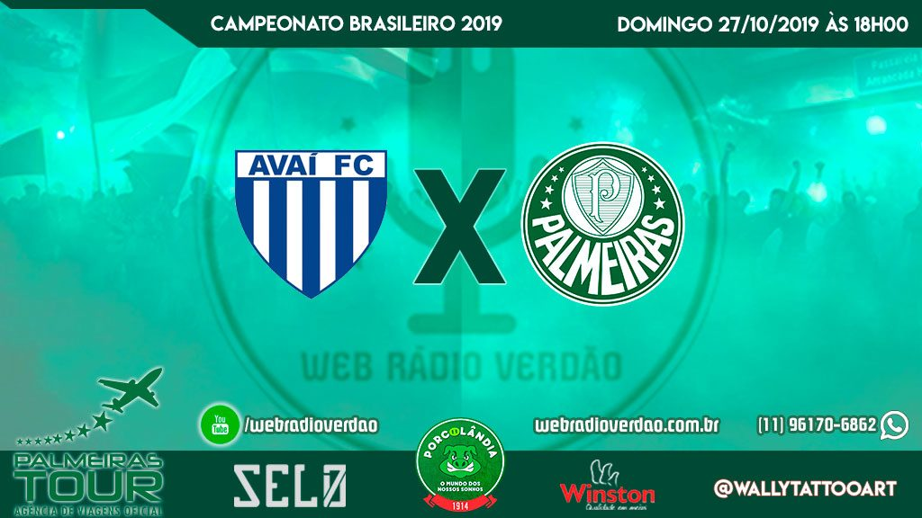 AO VIVO - Avaí x Palmeiras - Campeonato Brasileiro 2019 - 28 rodada - Porcolândia 1914 - Rua Caraíbas 32