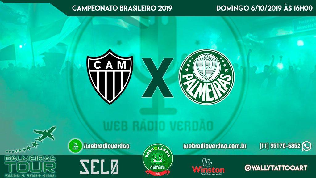 AO VIVO - Palmeiras x Atlético MG - Brasileiro 2019 - 23ª rodada - Allianz Parque