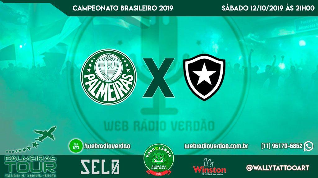 AO VIVO - Palmeiras x Botafogo - Brasileiro 2019 - 25ª rodada - Transmissão direto do Pacaembu