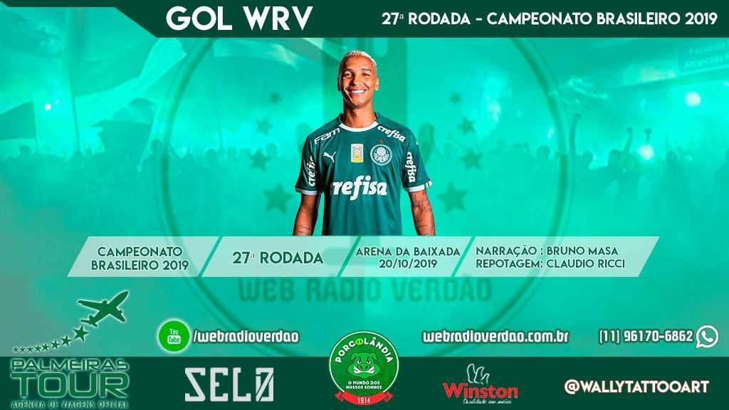 Gol de Deyverson - Athlético PR 1 x 1 Palmeiras - Brasileiro 2019 - 27 rodada - Arena da Baixada