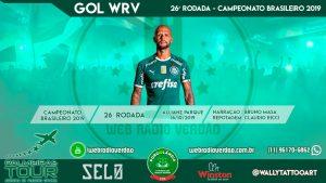 Gol de Felipe Melo - Palmeiras 1 x 0 Chapecoense - 26 rodada Brasileiro 2019 - Allianz Parque