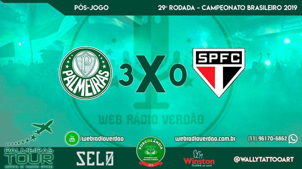 Pós-jogo Caneta Azul - Palmeiras 3 x 0 São Paulo - Allianz Parque