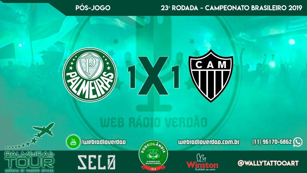 Pós-jogo - Palmeiras 1 x 1 Atlético MG - Brasileiro 2019 - 23ª rodada - Allianz Parque
