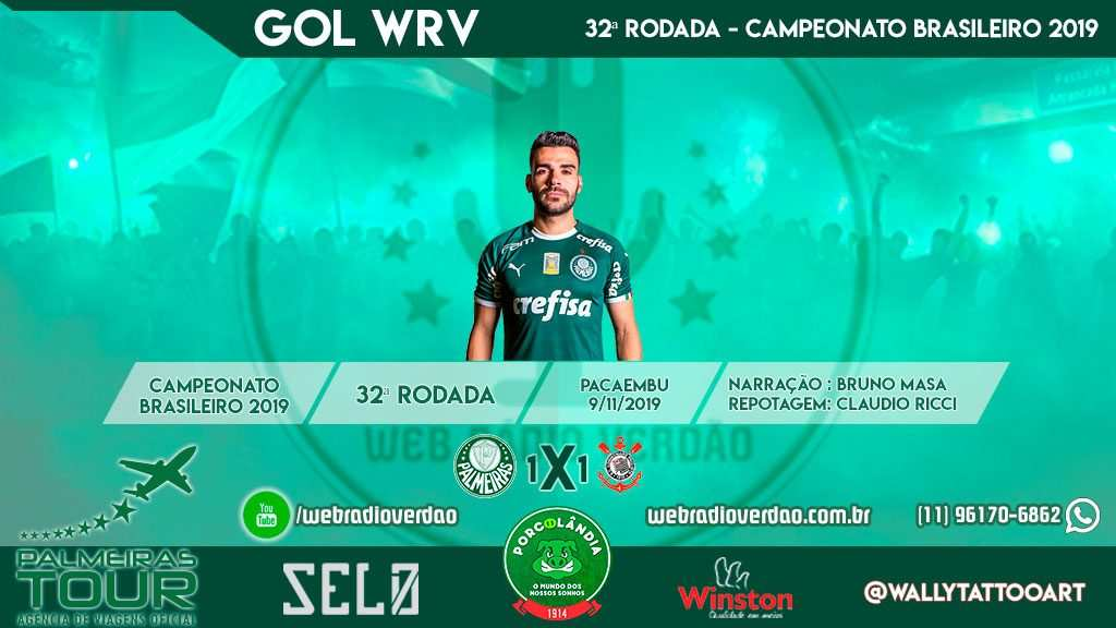 Jogada do gol de empate, Palmeiras 1 x 1 Curica