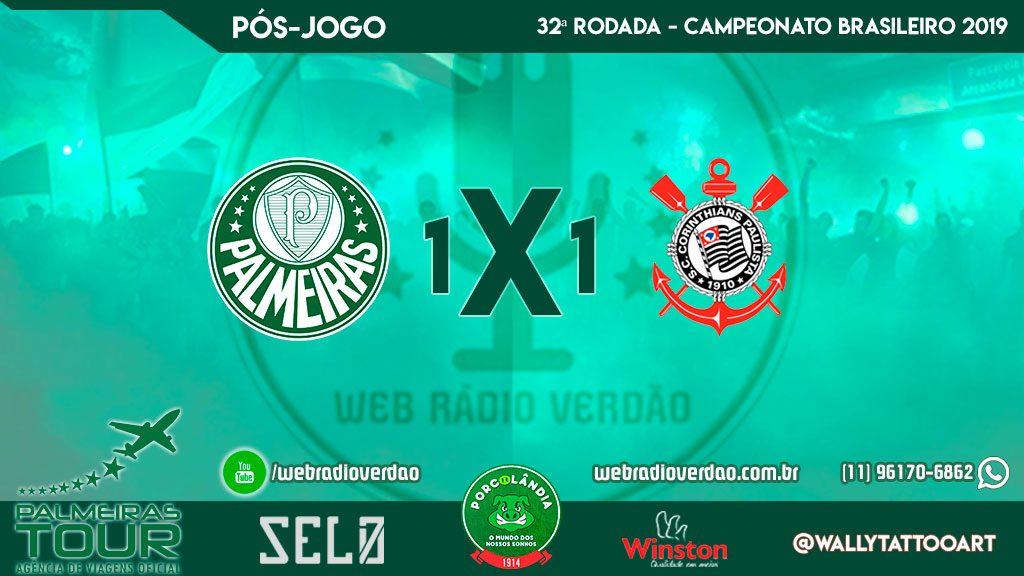 Pós-jogo WRV, Palmeiras 1x1 Curica, mais um exercício de paciência