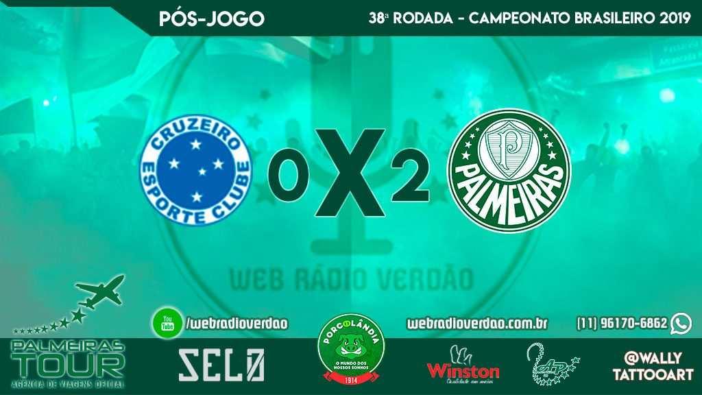 Pós-jogo Cruzeiro 0x2 Palmeiras - 38 rodada Brasileiro 2019 - Cruzeiro rebaixado