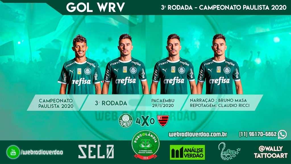 Com hat-trick de Bigode, Palmeiras goleia o Oeste