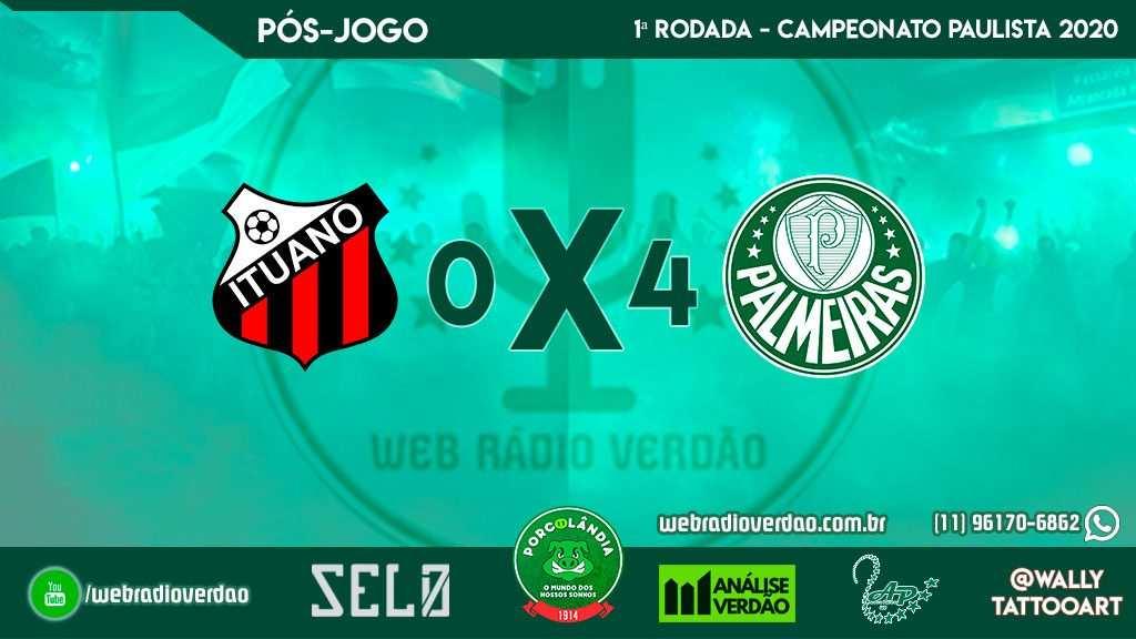 Pós-jogo Ituano 0 x 4 Palmeiras - Campeonato Paulista 2020