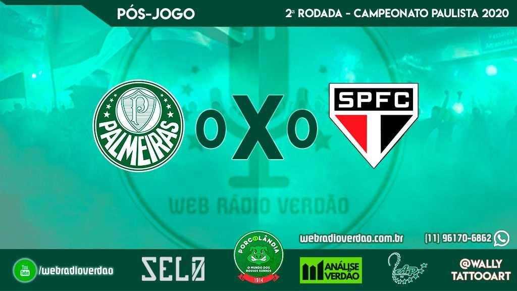 Pós-jogo Palmeiras 0 x 0 São Paulo - Campeonato Paulista 2020 - 2 rodada