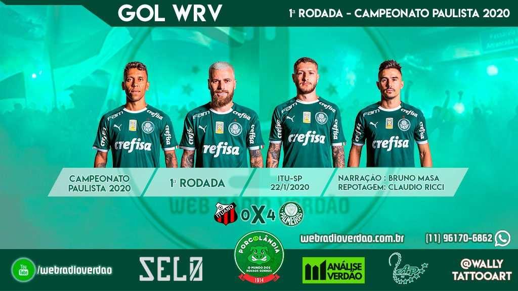 Rodada com goleada Verde - Ituano 0 x 4 Palmeiras - Campeonato Paulista 2020