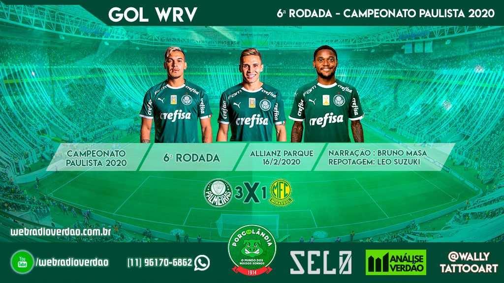 Gols Web Rádio Verdão - Narração dos gols de Gustavo Gomez, Rafael Veiga e Luiz Adriano