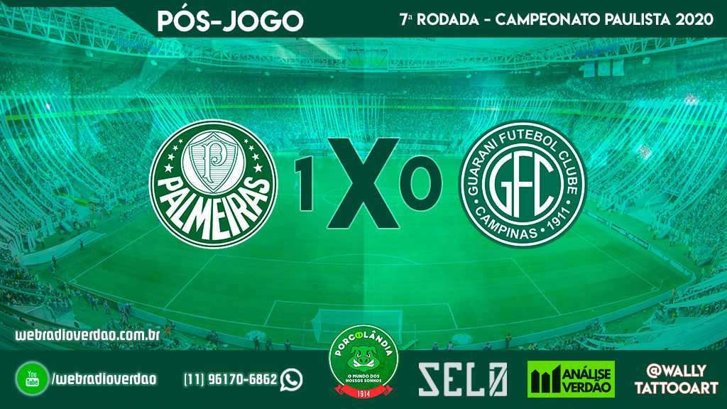 Pós-jogo Palmeiras 1x0 Guarani - Campeonato Paulista 2020 - 7 rodada - Allianz Parque