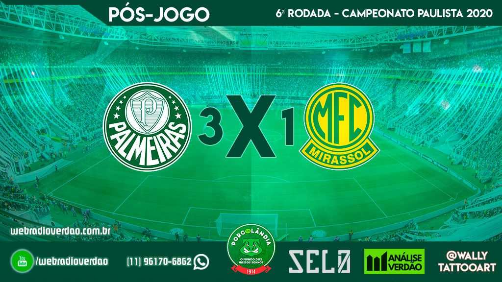 Pós-jogo Palmeiras 3 x 1 Mirassol - Campeonato Paulista 2020 - Allianz Parque