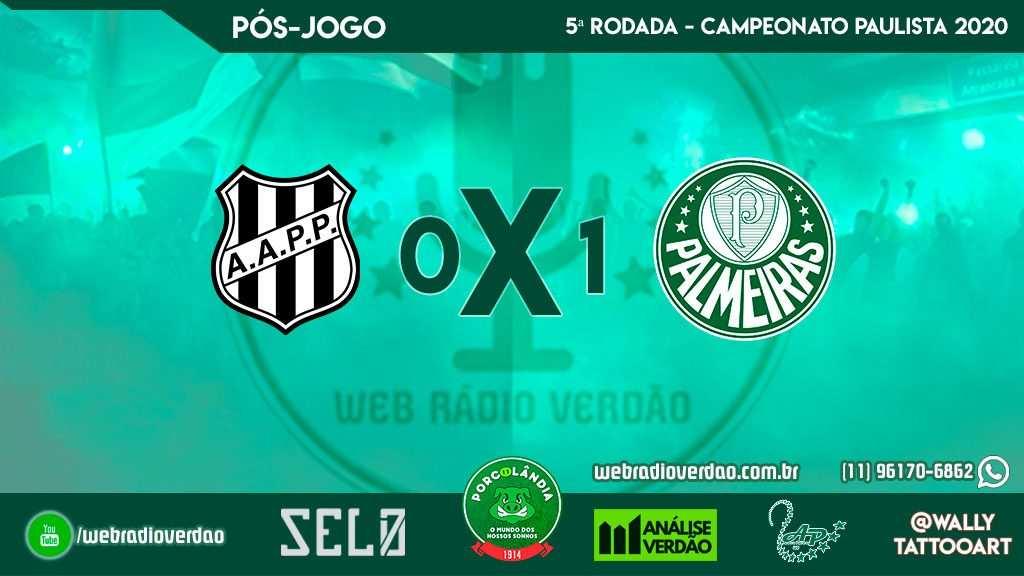 Pós-jogo - Ponte Preta 0x1 Palmeiras - Campeonato Paulista 2020 - 5ª rodada