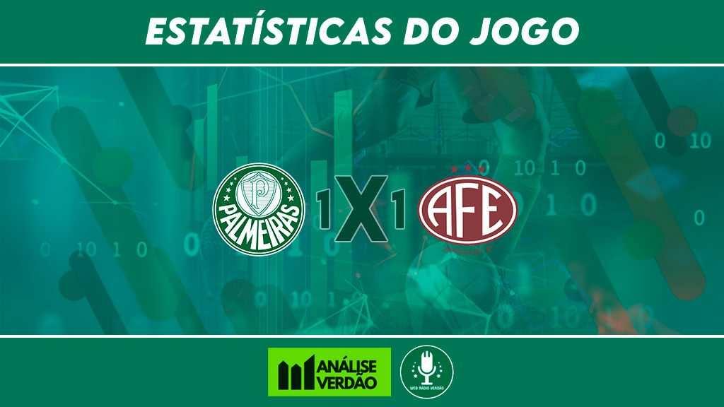 Estatísticas Palmeiras 1x1 Ferroviaria