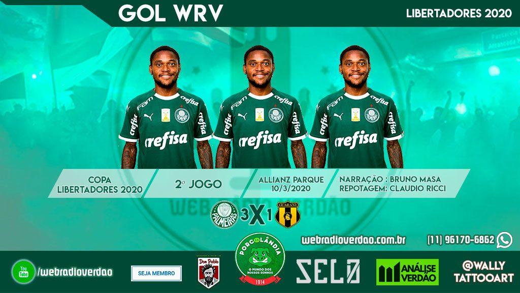 Hat Trick de Luiz Adriano - Palmeiras 3 x 1 Guarani - PR - Libertadores - 2020 - Allianz Parque