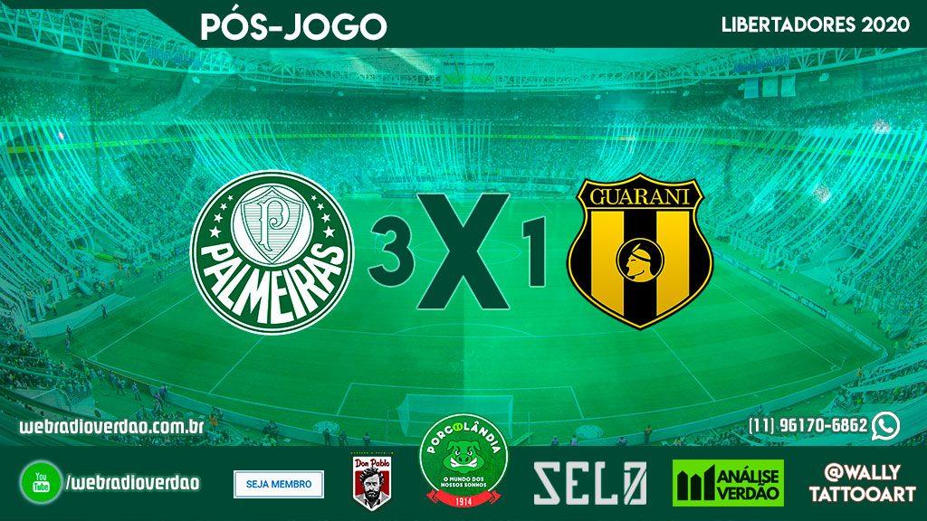 Pós-jogo - Palmeiras 3x1 Guarani PAR - Libertadores 2020 - Allianz Parque