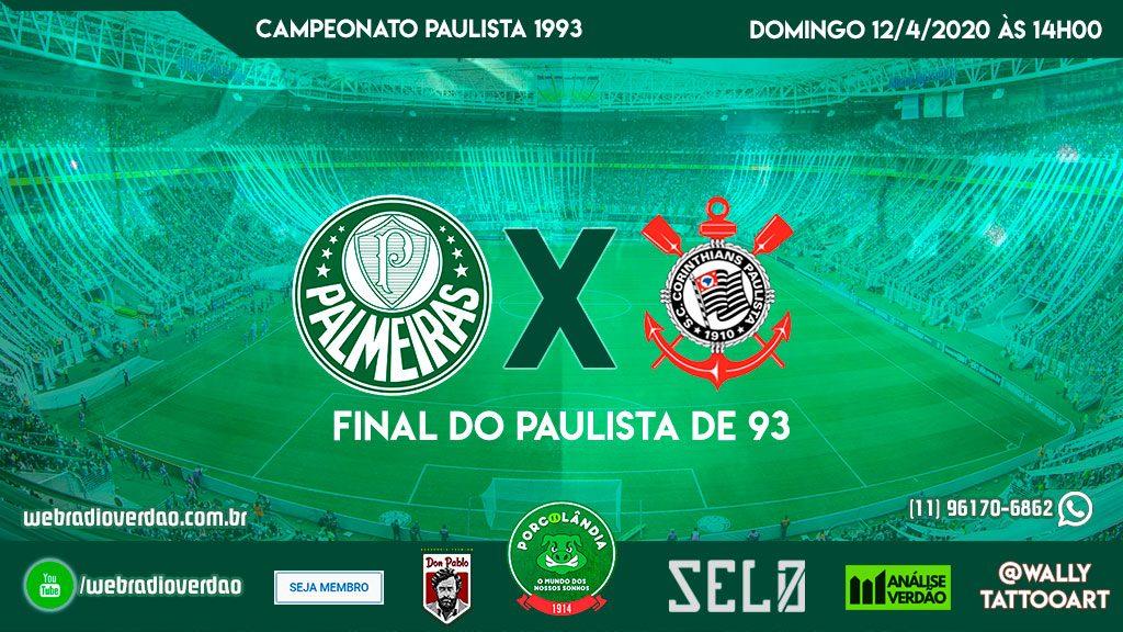 transmissão de PalmeirasxCorinthians final do campeonato paulista de 1993