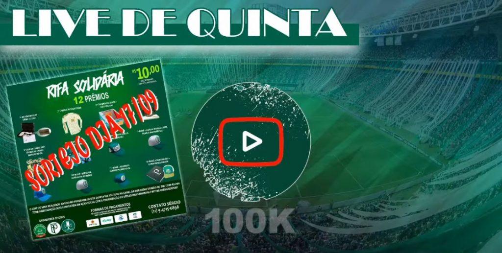 LIVE DE QUINTA - PALMEIRAS VENCE NA ALTITUDE SORTEIO DA RIFA SOLIDÁRIA
