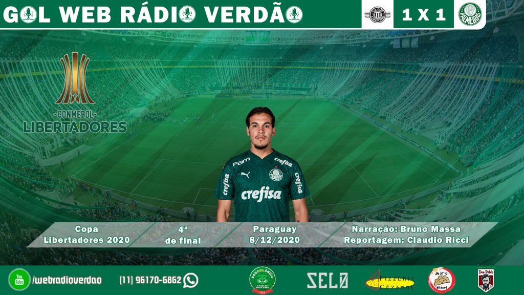 Gol de Gustavo Gomez - Libertad 1x1 Palmeiras - Libertadores 2020