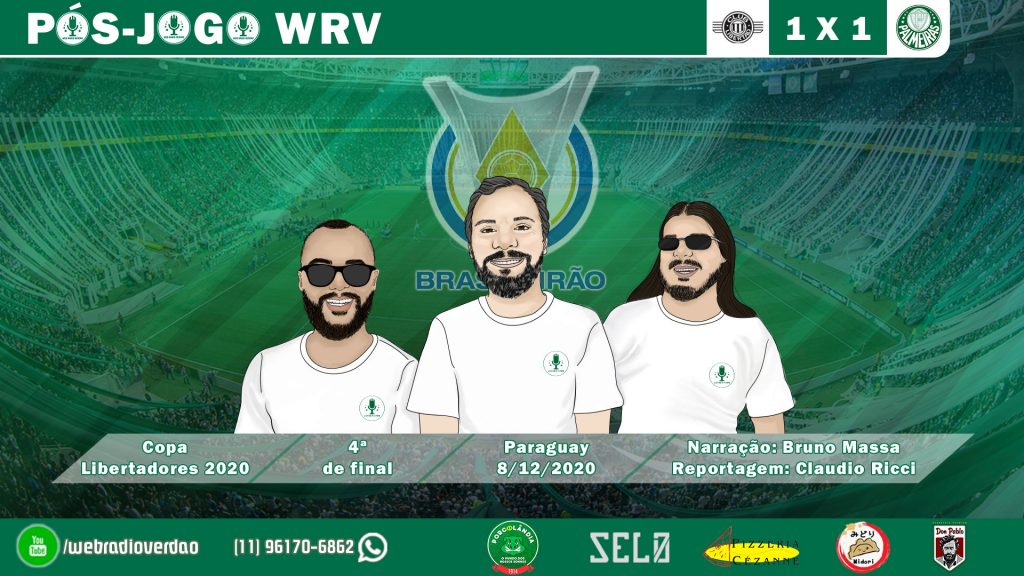 Pós-jogo Libertad 1x1 Palmeiras - Libertadores 2020