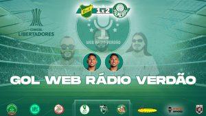 Gols de Ronny - Defensa y Justicia 1x2 Palmeiras - Libertadores 2021 - Web Rádio Verdão